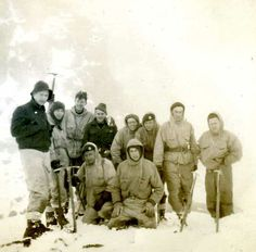 1951 Beinn Eighe callout on ridge. Great blogpost from Heavy Whalley on how the RAF Mountain Rescue team was equipped in the early days. Hardy folk.