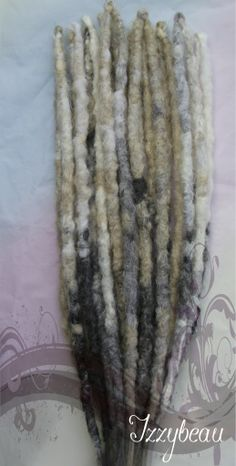"""""""Dirty Snow"""" Blonde/Cream Dreads with Grey/Silver splashes & transitions. #Dreads"""