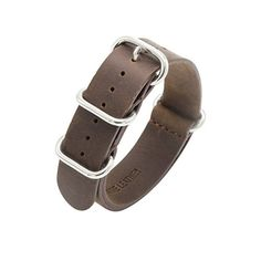 #womens #watches Nato Strap Crazy Horse Leather Watch Band 18mm 20mm 22mm Top Grain Genuine Leather Watch Strap Premium Zulu Military Leather Watch Bands for Men and Women Stainless Steel Buckle