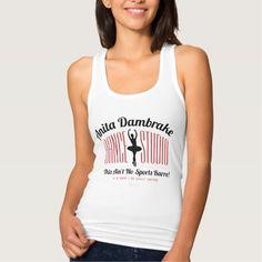 Anita Dambrake Dance Studio Jersey Racerback Tank Top Tank Tops
