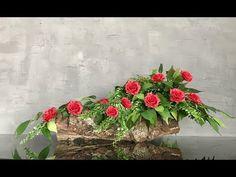 Cemetery Flowers, Funeral Flowers, Flower Arrangements, Floral Wreath, Wreaths, Make It Yourself, Plants, Youtube, Floral Arrangements