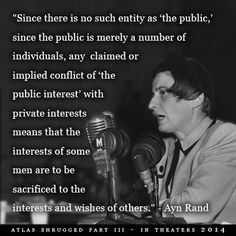 Ayn American novelist and philosopher. Advocated reason and recommended ethical egoïsm. Supported romantic realism in art. Ayn Rand Quotes, Atlas Shrugged, Funny Quotes, Life Quotes, Political Quotes, The Ugly Truth, Question Everything, Public Speaking, Cool Words