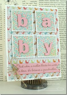 What a pretty idea for the arrival of a baby!