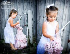 Trash the dress - flower girl.