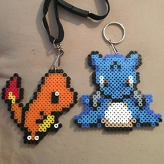 Charmander and lapras Pokemon perler @www.etsy.com/shop/GemsbyWanderlust