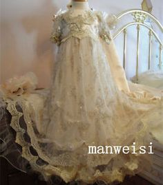 9280783f223 Stunning New Baby Infant Toddler Dresses Lace Appliques Baptism Christening  Gown