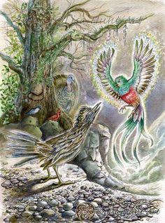 Birds card from Lisa Hunt's FairyTale Lenormand
