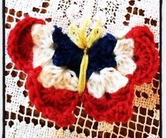 Gudrun, Crochet Butterfly, Chain Stitch, Historical Clothing, Double Crochet, 4th Of July Wreath, Mittens, Most Beautiful Pictures, Diy And Crafts