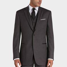 BLACK by Vera Wang Gray Slim Fit Tuxedo - Tuxedos | Men's Wearhouse