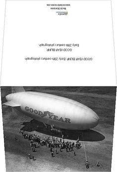 Patent Print Goodyear Blimp // Airship 1926 Ready To be Framed! Aviation