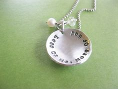Less of Me More of God Christian Necklace by gracetags on Etsy, $24.00