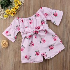 Girl Jumpsuits US Kids Baby Girl Romper Floral Jumpsuit Sunsuit Summer Outfits Clothes - triple-aaa-fashion-collection Tutu Outfits, Baby Outfits, Toddler Outfits, Summer Outfits, Fashion Kids, Baby Girl Fashion, Jumpsuits For Girls, Girls Rompers, Dresses Kids Girl