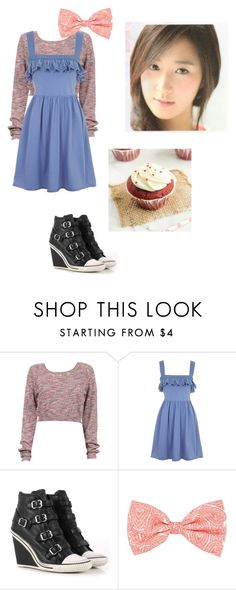 """""""Red Velvet Cupcake Girl"""" by princessmax ❤ liked on Polyvore featuring Topshop, Ash, wattpad and yuri"""
