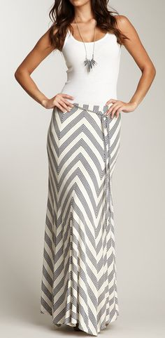 Chevron maxi skirt / ella moss- Certainly motivation to get fit, it's so cute!