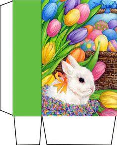Bunny Eggs and Tulips  X2  bag