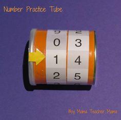Teacher Mama: Number Practice Tube