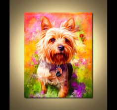Yorkshire Terrier Portrait  Custom Yorkshire by ScottieInspired, $49.99