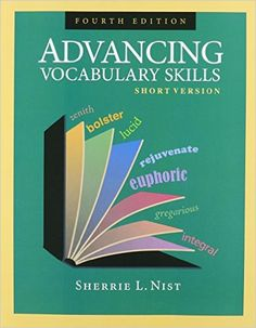 17 best english books images on pinterest english book vocabulary advancing vocabulary skills short version introduces 200 essential words that are needed for general reading comprehension in high school and college fandeluxe Gallery