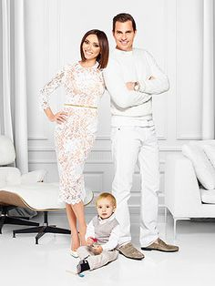 TV personality Giuliana Rancic and her son, Duke, are coming together to design clothes for Abercrombie's Everybody Collection, a gender-neutral line for kids that launched in January. Celebrity Couples, Celebrity Style, Peplum Dress, Lace Dress, Giuliana Rancic, Baby Boy Pictures, Famous Couples, Celebs, Celebrities