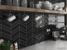 Get The Herring Bone Tile Look with the Fantastic Chevron Tile Collection Looking for a style that is uniquely yours but still want to keep your walls simple? Look no further than these...