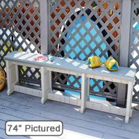 Leisure Accents - 74 in. Gray Resin Patio Bench - Enjoy the outdoors in comfort and style with this Confer Plastics Leisure Accents Patio Bench. Patio Bench, Backyard Patio, Benches, Hot Tub Accessories, Resin Patio, Cheap Designer, Designer Bags, Spa Parts, Portable House