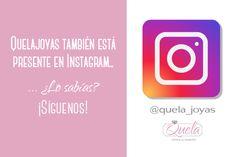 ¿Sabíais que también tenemos cuenta en #Instagram? No te pierdas ningún detalle, síguenos en la red social de las #fotografías y #vídeos por excelencia 😚➡@quela_joyas https://www.instagram.com/quela_joyas/