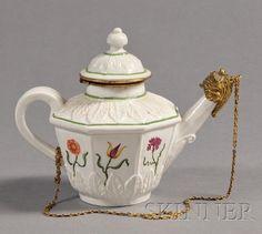 Brass mounted Teapot  Vezzi porcelain