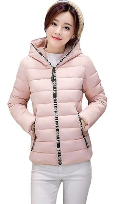 Woo2u Women Plus Size Short Korean Slim Quilted Coat ** Insider's special review you can't miss. Read more  : Plus size coats