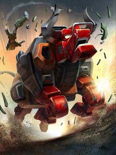 Predacon Tantrum Artwork From Transformers Legends Game