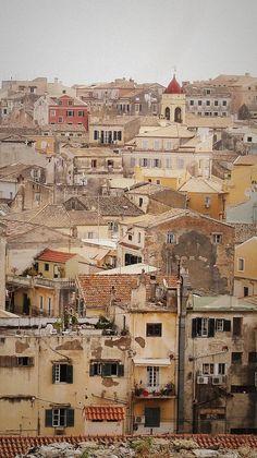 Corfu town, Greece - by green_kite Corfu Greece, Crete, Greece Vacation, Greece Travel, Wonderful Places, Beautiful Places, Corfu Town, Corfu Island, Greece Islands