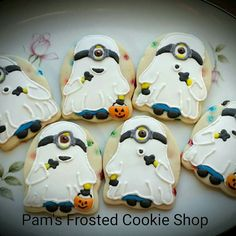 Pam's Frosted Cookie Shop:  Halloween.  Ghost Minions!   ♡♡♡♡♡