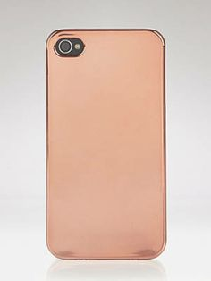 Chicify your smart phone with a sleek metallic rose gold case.     Audiology iPhone 4 Case in Metallic Rose Gold, $35, bloomingdales.com