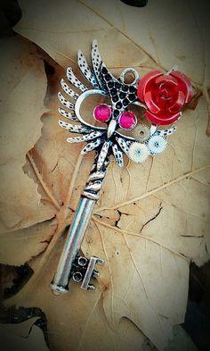 Owl Always Love You fantasy key pendant  by ary