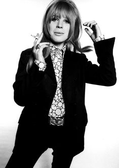 "Marianne Faithfull portrait from ""Blinds And Shutters"" ▹ 1967 ▹ Photographed by Michael Cooper"