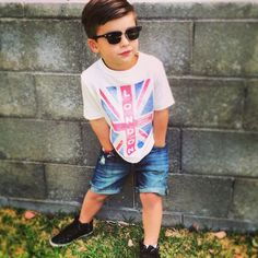 the coolest tot on the block. Little Boy Outfits, Cute Outfits For Kids, Toddler Outfits, Baby Boy Outfits, Fashion Kids, Toddler Boy Fashion, Kids Tumblr, Toddler Haircuts, Stylish Kids