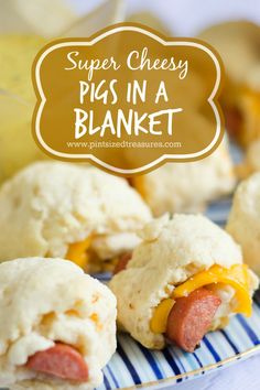 This cheesy version of pigs in a blanket will be the perfect appetizer for your next party! The spicey mustard dipping sauce really makes this appetizer bling, bling! www.pintsizedtreasures.com
