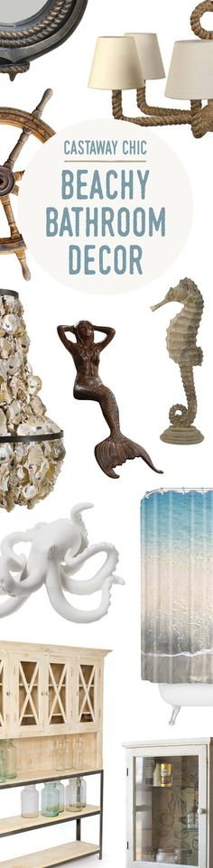 Beachy Bathroom Décor | Up to 60% Off at dotandbo.com
