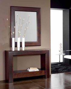 modern console table design ideas with mirror 2019 Entrance Decor, Entryway Decor, House Entrance, Foyer, Office Decor, Home Decor Furniture, Furniture Design, Living Room Designs, Living Room Decor