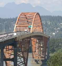 The Port Mann Bridge is a steel tied arch bridge that spans the Fraser River connecting Coquitlam to Surrey in British Columbia near Vancouv...