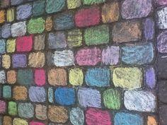 Chalk coloured  stones