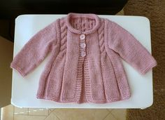Ravelry: Little Vintage Morning Coat pattern by Sue Batley-Kyle Baby Sweater Knitting Pattern, Knitted Baby Cardigan, Knit Baby Sweaters, Knitted Baby Clothes, Baby Knitting Patterns, Baby Patterns, Morning Coat, Baby Set, Coat Patterns