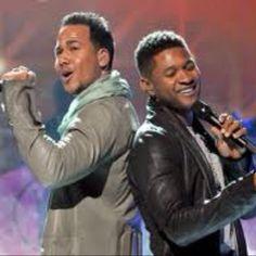 Romeo Santos and Usher ...my 2 sexy men's