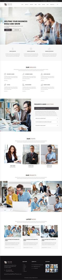 Bolton is a clean and Modern design 3in1 #responsive HTML Bootstrap #Template best suited for #consulting website like Financial Advisor, Accountant, Consulting Firms, insurance, loan, tax help, Investment firm etc download now➩ https://themeforest.net/item/bolton-business-finance-and-consultancy-template/19249469?ref=Datasata