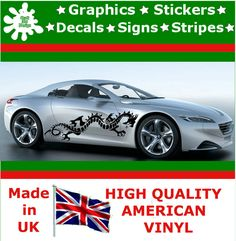 """21"""" High Car Side Stripes Graphic Decal Vinyl Stickers Van Auto Rally Race F1_60"""