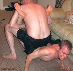 dormroom jocks rough housing wrestling floor