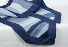 Ashbee Design- A table runner from old blue jeans