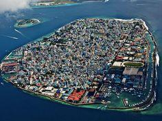 Malé, hoofdstad van het eilandenrijk de Malediven