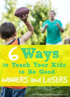 Do your kids have a difficult time accepting defeat after a game? Teach your kids the truth NOW about winning and losing. It's all a part of real life!