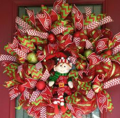 Elf Christmas Wreath, Elf Wreath, Christmas Wreath, Christmas Decor, Christmas Elf