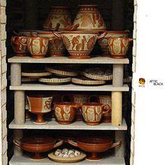 ATTIC BLACK features iconic, handmade pottery showcasing the Grecian heritage & culture. Handmade Pottery, Attic, Ceramics, Studio, Tableware, Black, Loft Room, Ceramica, Pottery